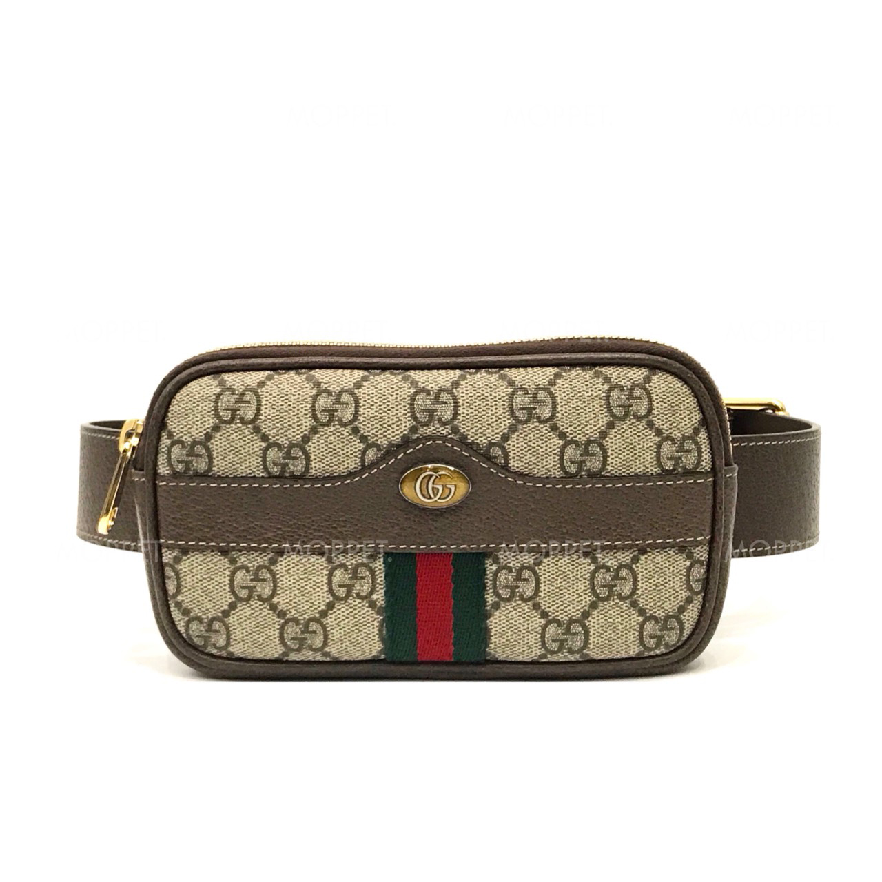 "Like New Gucci Belt Bag 75"" in Signature Canvas GHW"