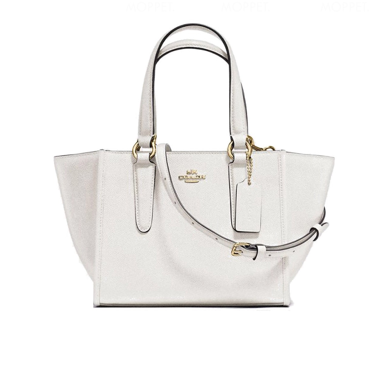 New Coach Crosby Carryall 21 in Chalk Leather GHW