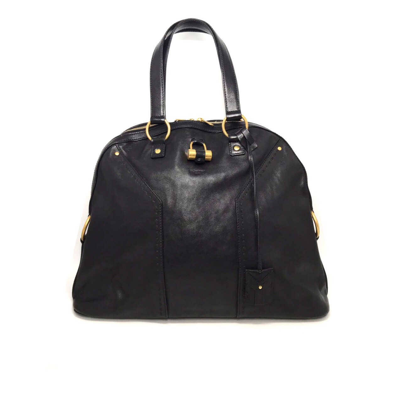 Used YSL Muse Large in Black Leather GHW