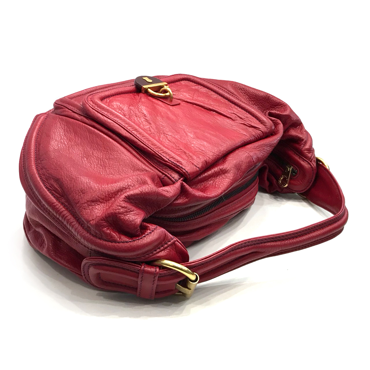 Used Marc By Marc Jacobs Shoulder bag in Red Leather GHW