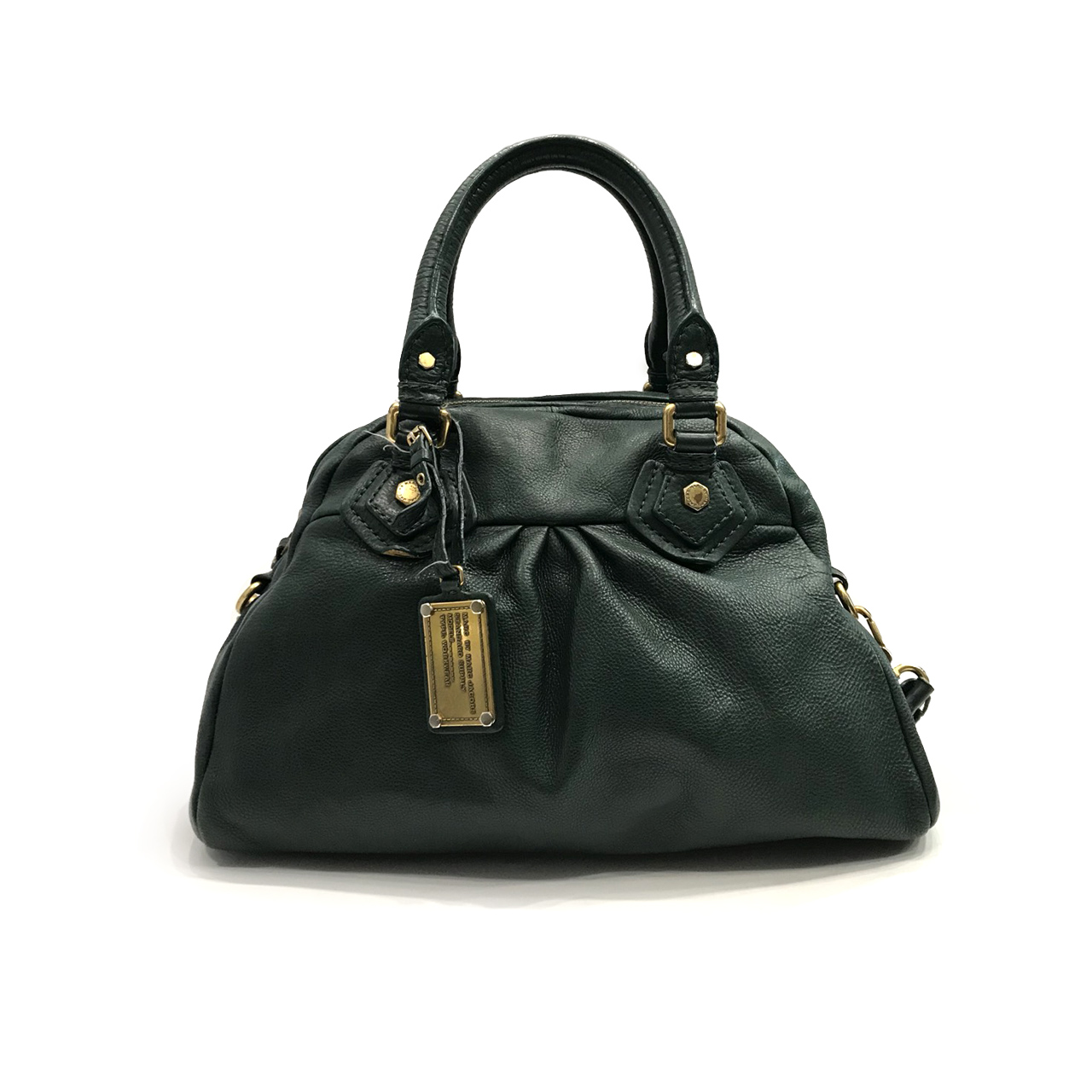 Used Marc By Marc Jacobs Classic Q Handbag in Dark Green Leather GHW