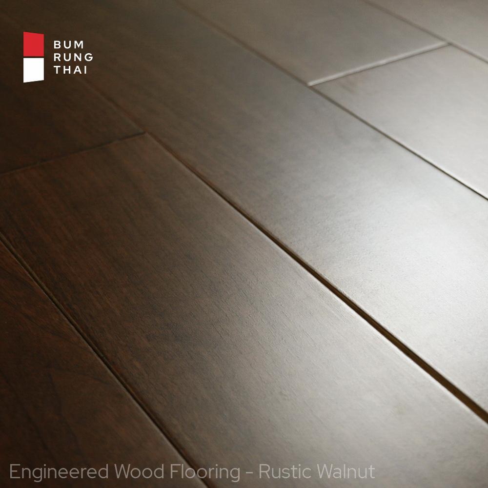 Engineered wood flooring - Rustic Walnut