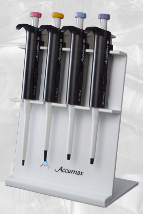 Acrylic stand to hold 4 pipettes
