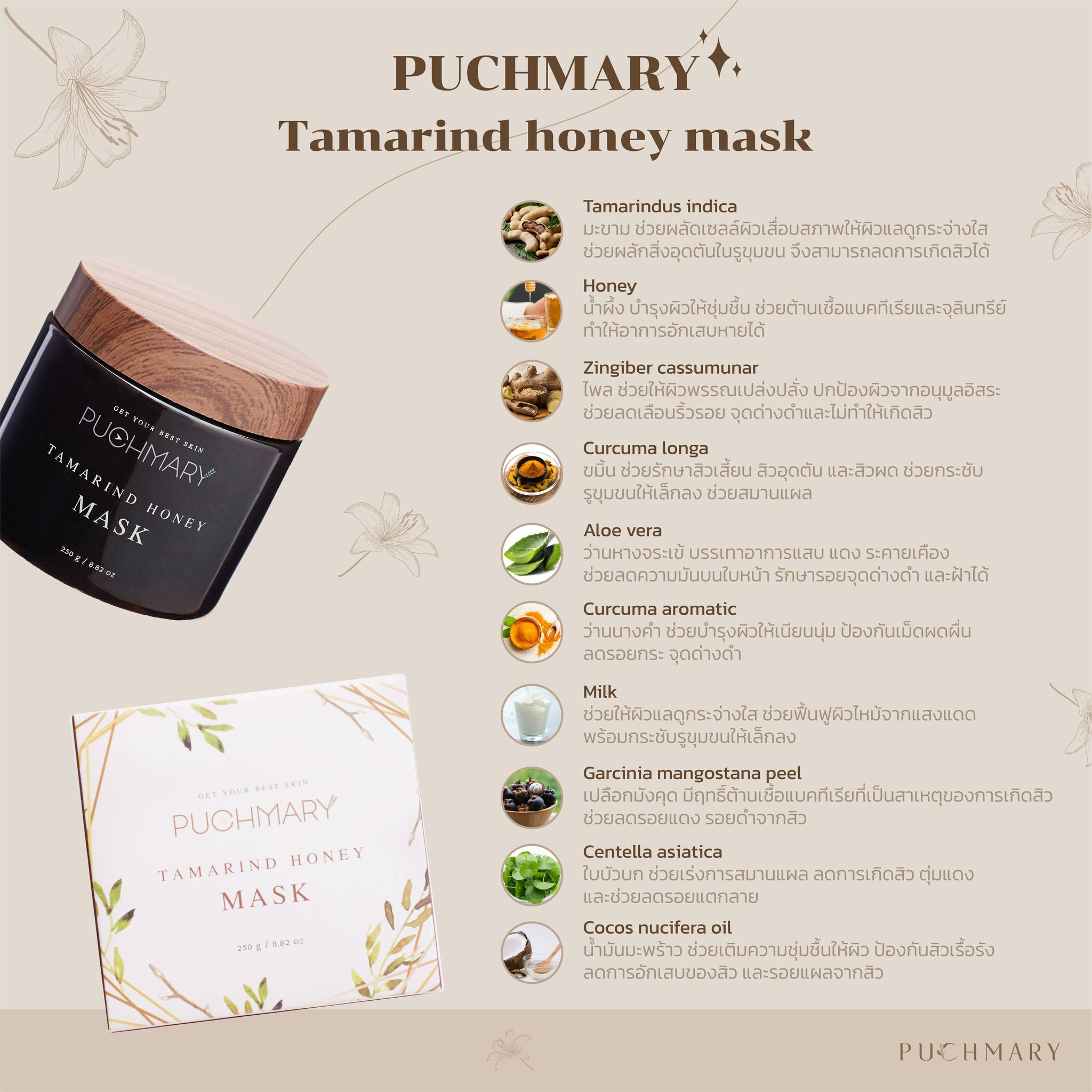 Ingredient of mask puchmary