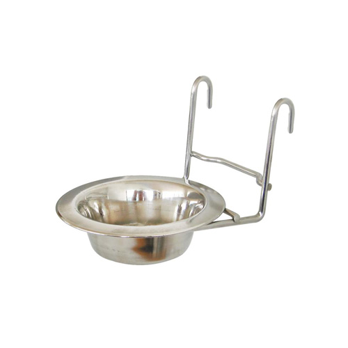 Dog-Link Cage Hanger Stainless Bowl (11 cm.)