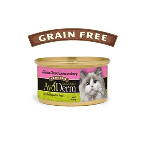AvoDerm Cat Chicken Chunks entree Canned 80 g.