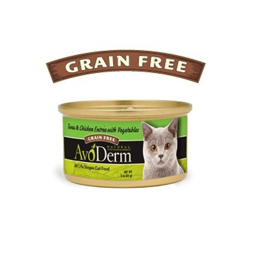 AvoDerm Cat Tuna & Chicken entree Canned 80 g.