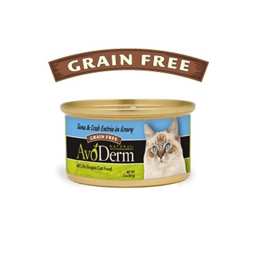 AvoDerm Cat Tuna & Crab entree in Gravy Canned 80 g.