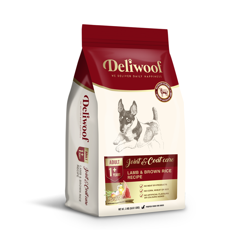Deliwoof Dog food Joint & Coat Care Lamb & Brown Rice Recipe