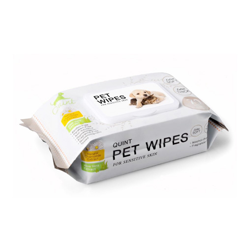 Quint Pet Wipe For Sensitive Skin (70 Sheets)