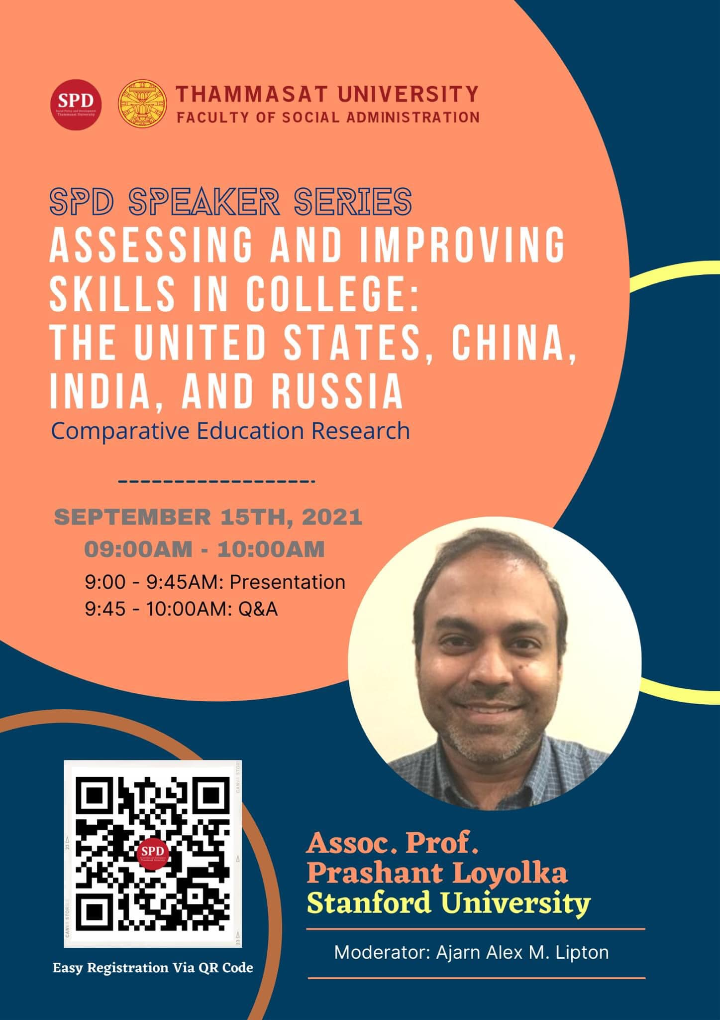 """SPD Speaker Series """"Assessing and Improving Skills in College: The United States, China, India and Russia"""""""