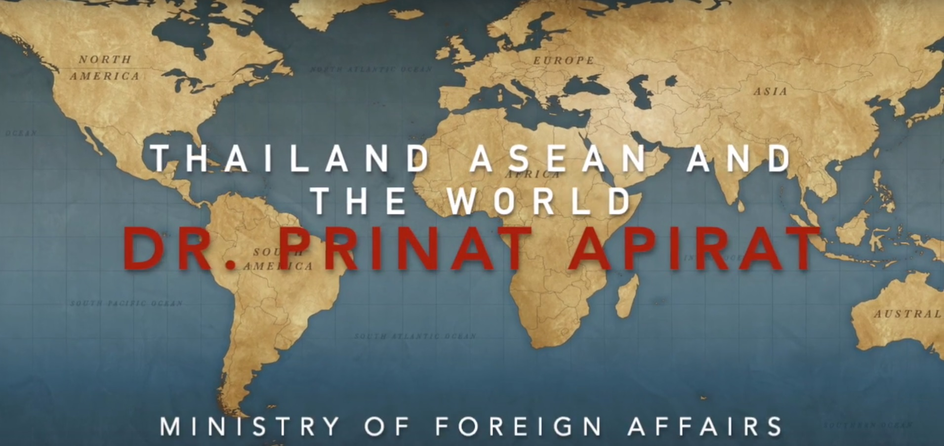 "Why do Thais need ASEAN?"" – A guest lecturer from the Ministry of Foreign Affairs"