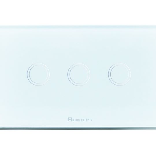 Rumos touch switch 3 gang 2 way Royal white
