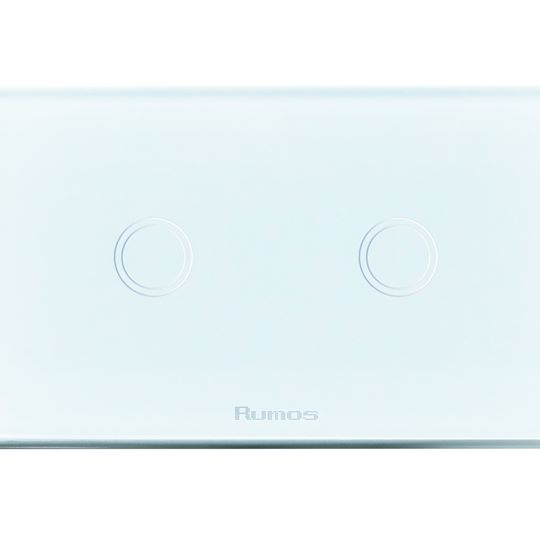 Rumos touch switch 2 gang 2 way Royal white with remote function