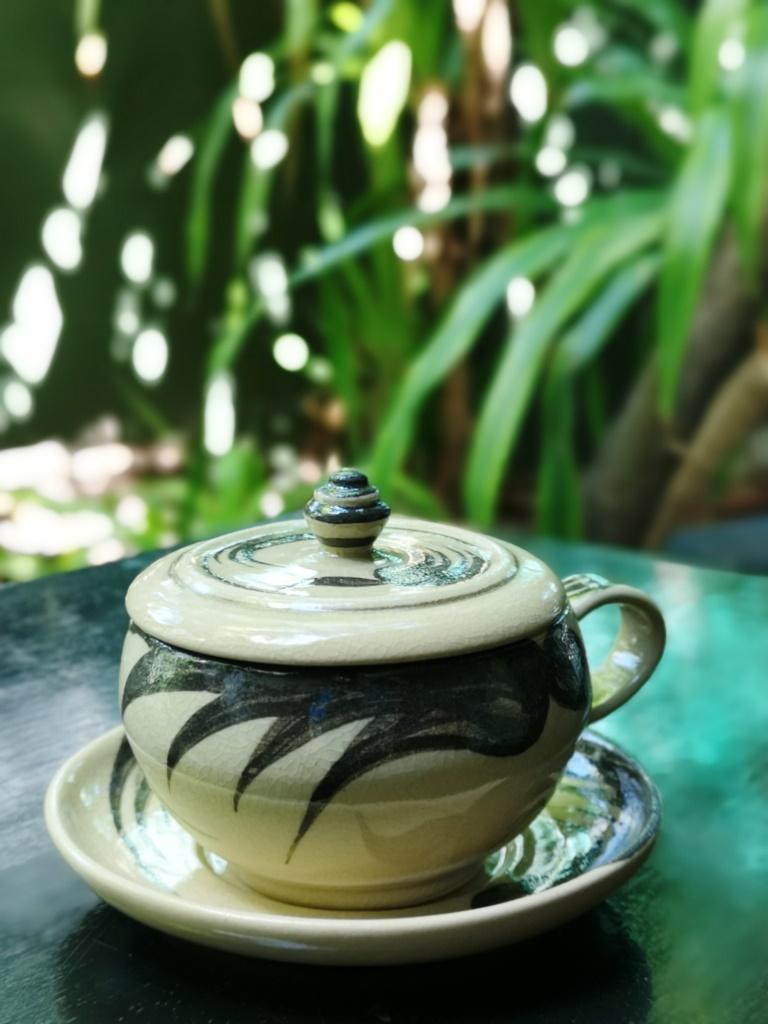 Kalong pattern coffe cup set