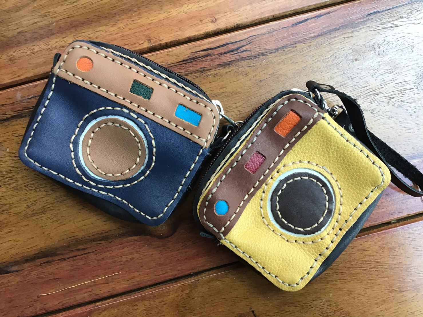 Leather Coin Bag-Cameras