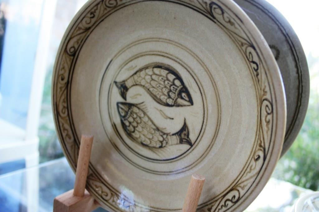 "Ceramic Plate 8"" - Wiang Galong (Fish)"