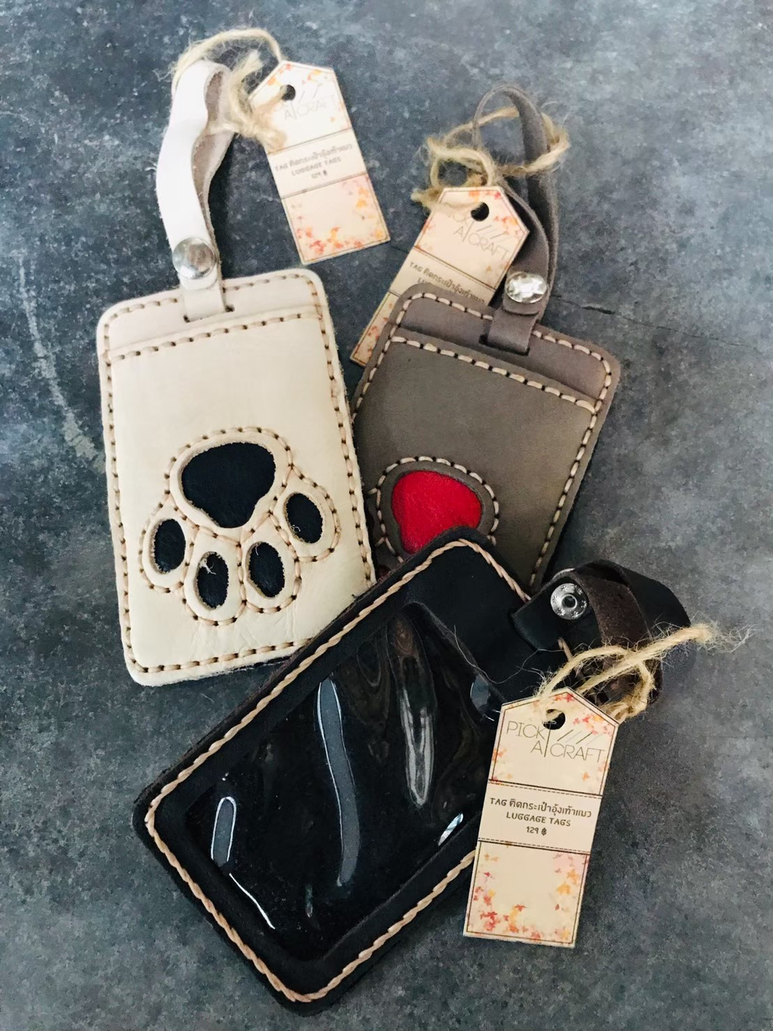 Leather Luggage Tag Name