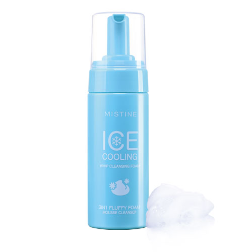 Mistine Ice Cooling Whip Cleansing Foam 140 ml.
