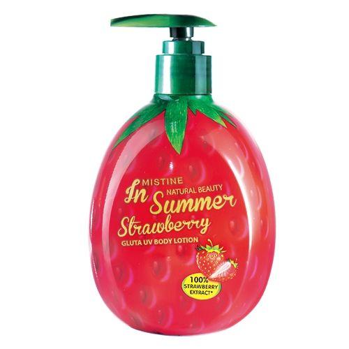 Mistine Natural Beauty In Summer Strawberry Gluta UV Body Lotion 300 ml.