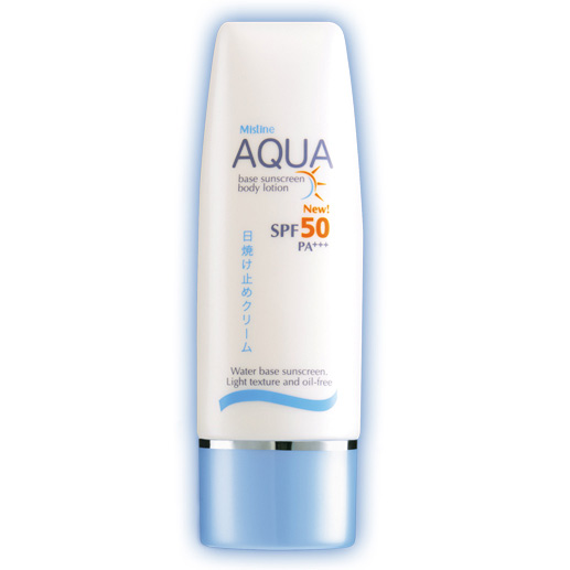 Mistine Aqua Base Sunscreen Body Lotion SPF 50 PA+++ 70 ml.