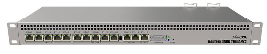 RB1100AHx4 Powerful 1U rackmount router with 13x Gigabit Ethernet ports