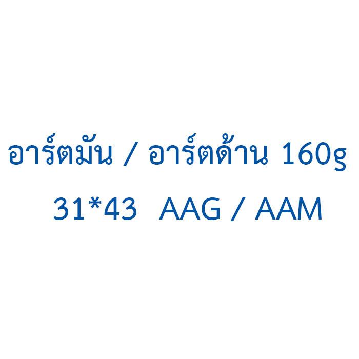 อาร์ตมัน / อาร์ตด้าน  160g  31*43  AAG / AAM