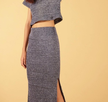 Everyday Apparels Knit Skirt - Blue