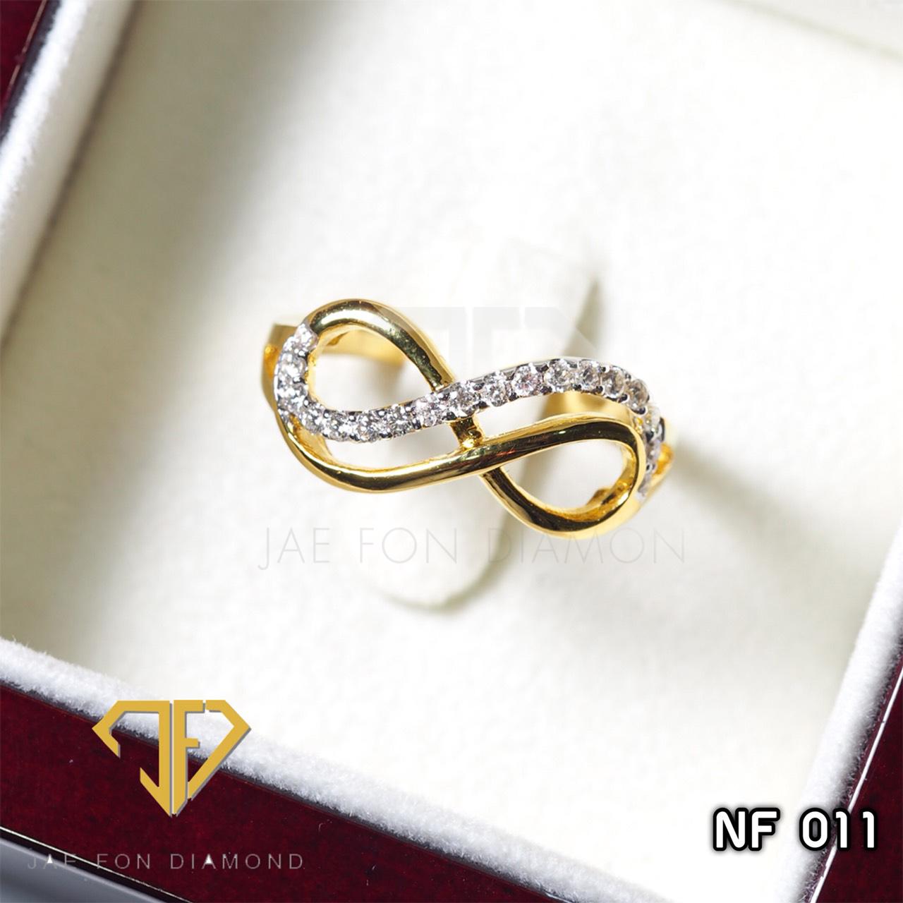 แหวนเพชรเบลเยี่ยมแท้ น้ำ98 อินฟินีตี้