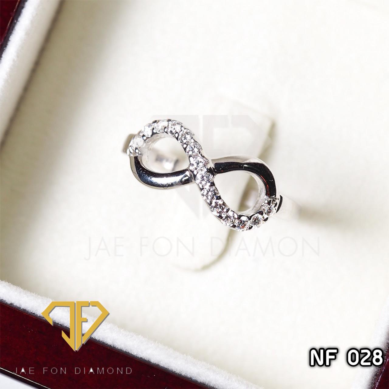แหวนเพชรเบลเยี่ยมแท้ น้ำ98 อินฟินิตี้