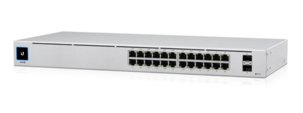 USW-24-POE UniFi Switch 24 Port Gen2 802.3at PoE Gigabit Switch with SFP