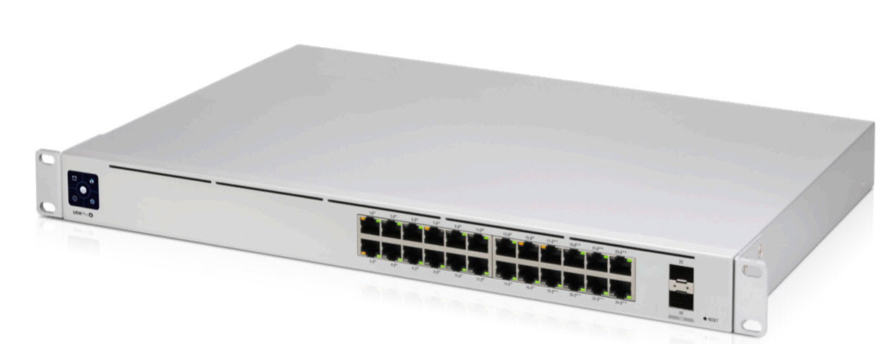 USW-Pro-24-POE UniFi Switch Pro 24 PoE Gen2 802.3at/bt PoE Gigabit Switch with Layer 3 Features and SFP+
