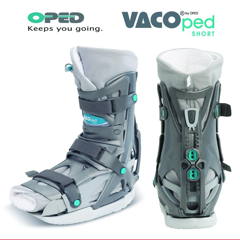 เฝือกบูทลมสุญญากาศปรับองศาได้ (สั้น) ข้อเท้า/ส้นเท้า/ฝ่าเท้า  (Air Boot_VACOped Short)