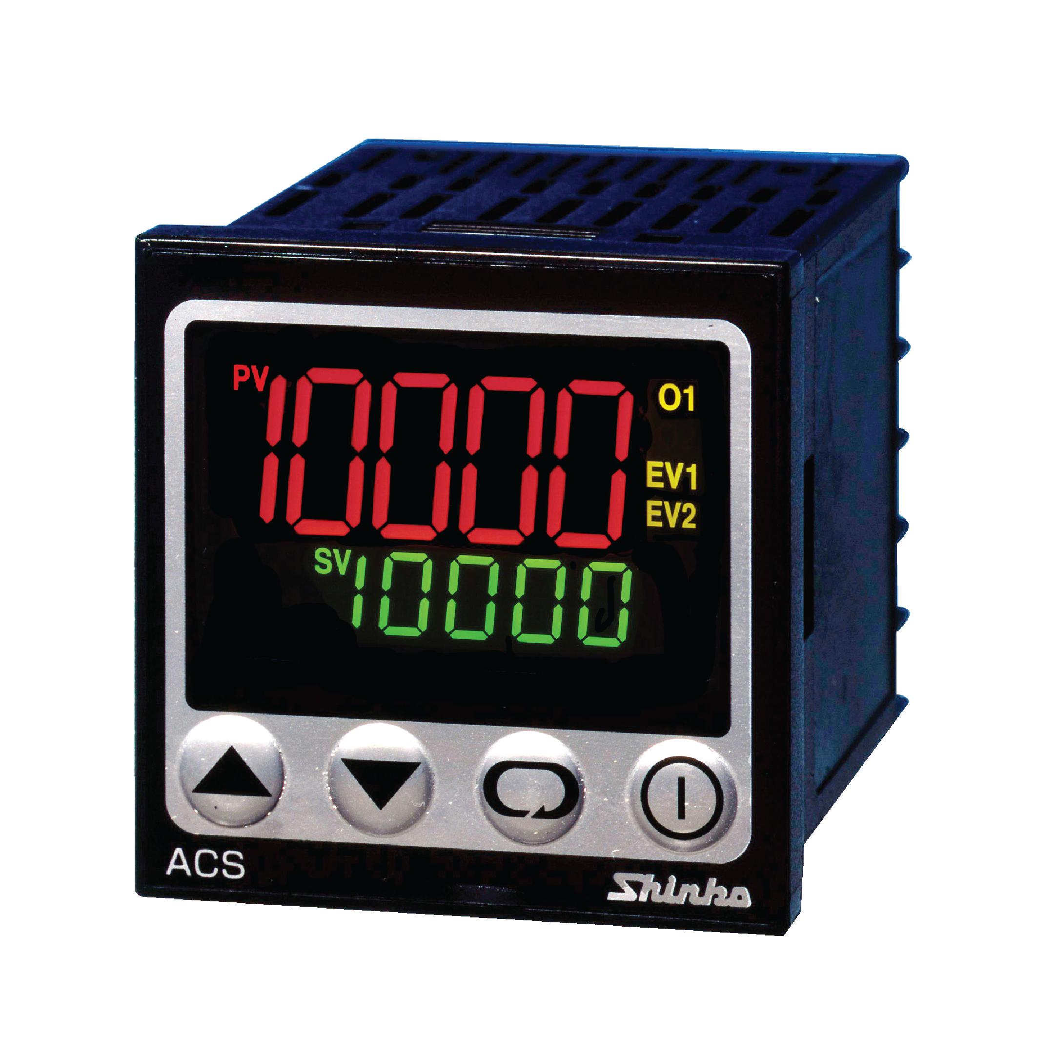 เครื่องวัดและควบคุมอุณหภูมิ ACS-33A-S/M, 1, BK, 24Va/dc