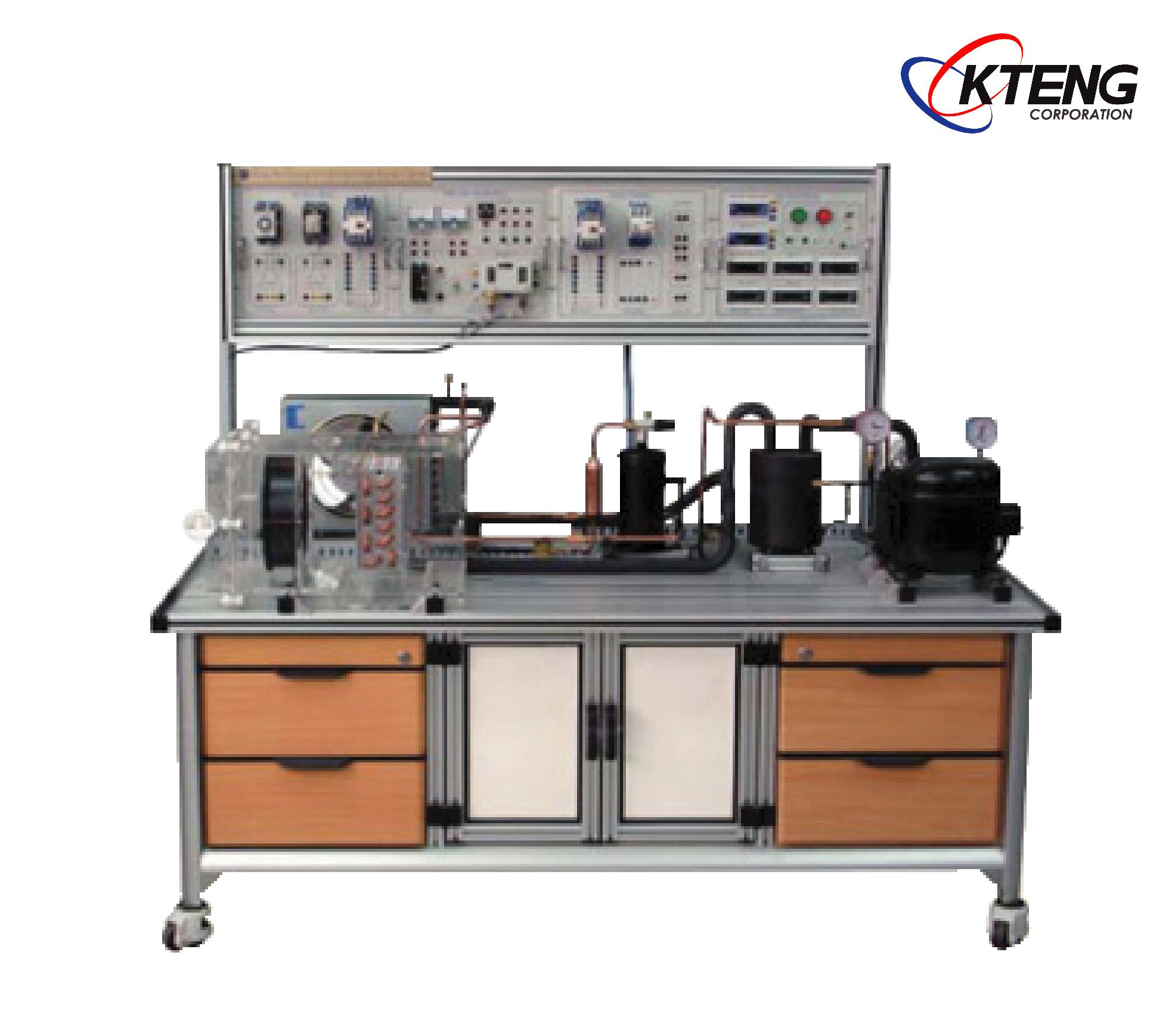 ชุดทดลองระบบทำความเย็นและความร้อน แบบ Heat pump