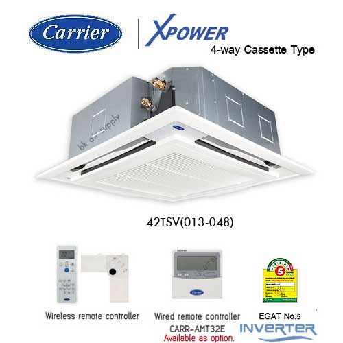 Carrier Inverter 42TSV 4-Way Cassette Type_Bkairsupply