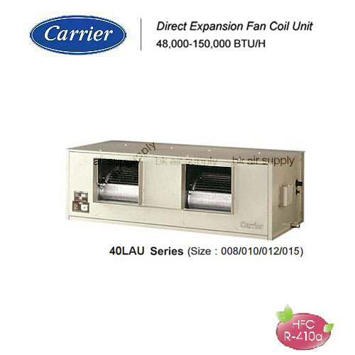แอร์แคเรียร์ แบบต่อท่อลม ตัวเครื่องมี casing (R410a)