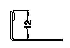 Stainless Steel Straight Trim 12 mm., 2.5 Meters