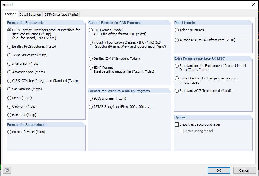 การรับไฟล์หรือส่งไฟล์จากโปรแกรมอื่นๆ เข้าโปรแกรม RFEM เพื่อลดการสร้างโมเดลอาคารในโปรแกรม