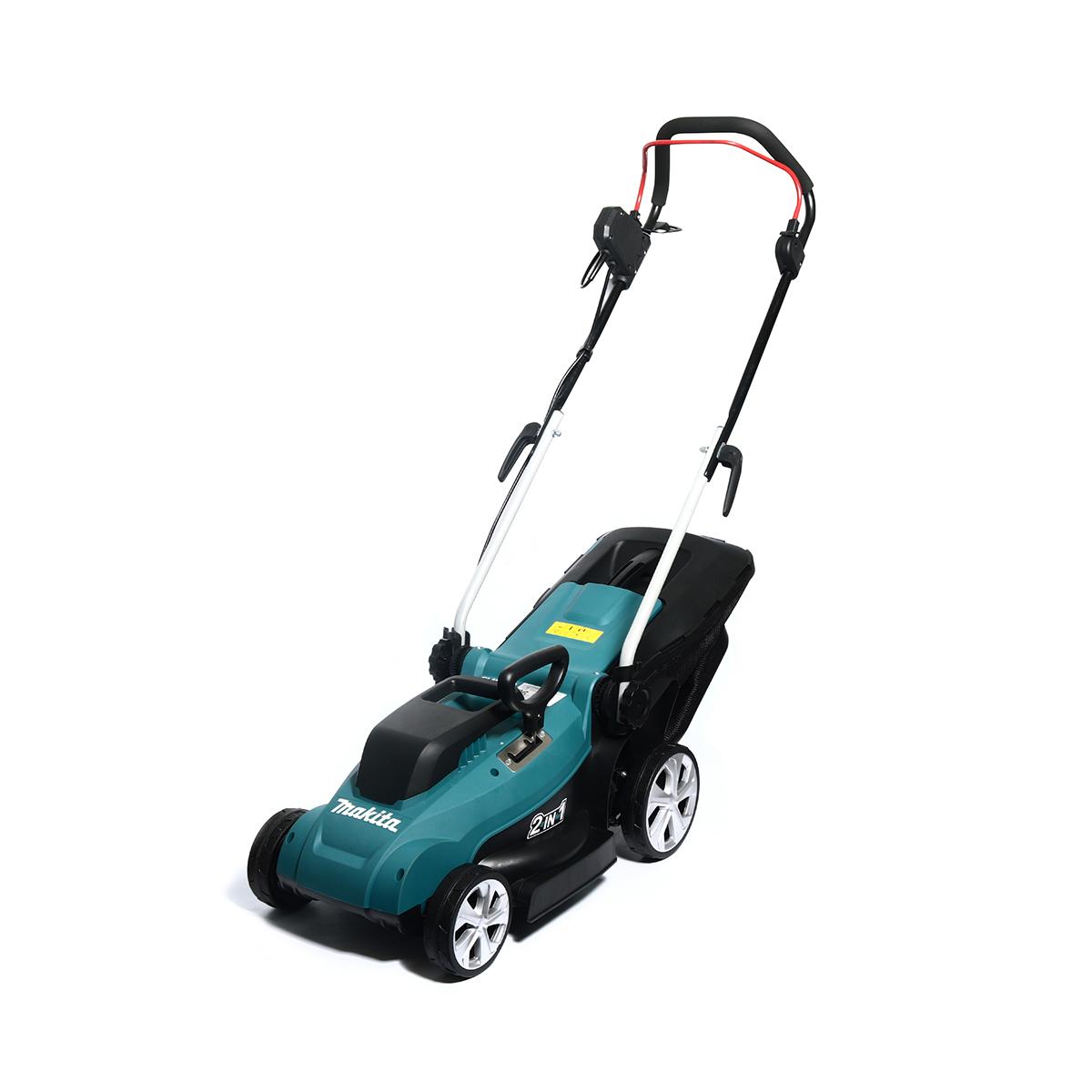 """รถเข็นตัดหญ้าไฟฟ้า MAKITA ELM3320 13"""" 1,200W"""