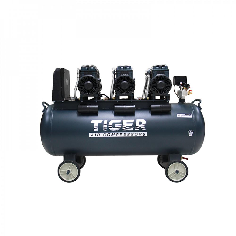 ปั๊มลม Oil free 120 ลิตร TIGER JAGUAR - 120 1390W x 3 220V.