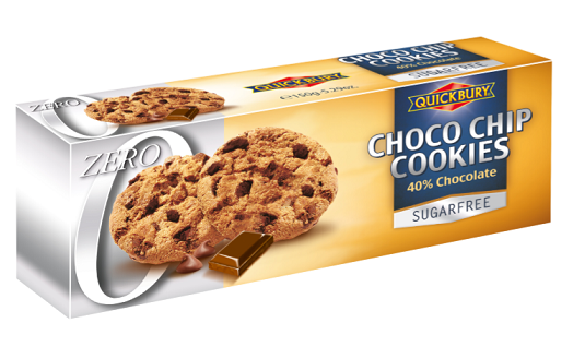 Quickbury Choco Chip Cookies Sugarfree