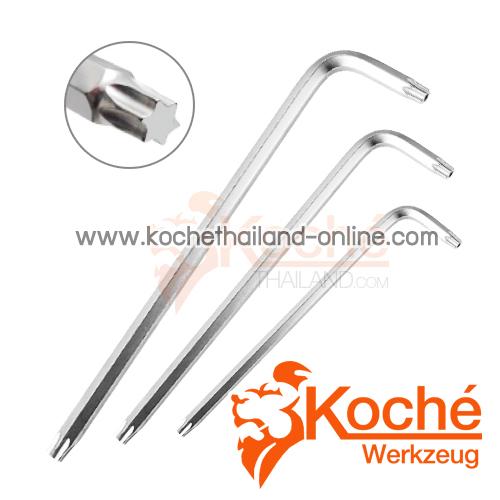 KCHW03 ชุดประแจหกเหลี่ยม 2 ข้าง หัวท็อกไม่มีรู