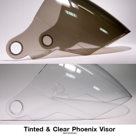 ชิลด์/หน้าแว่นอะไหล่ หมวกกันน็อค สีดำ-ใส รุ่น Phoenix-1, Phoenix-5, Phoenix-D