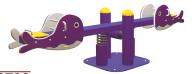 Sealplay ของเล่นสนาม ไม้กระดกสปริงปลาวาฬ