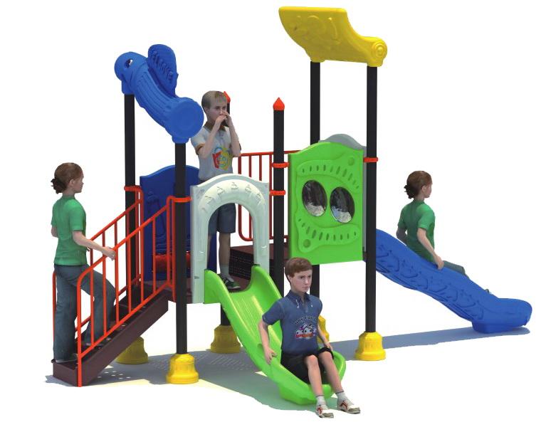 Sealplay สนามเด็กเล่น กระดานลื่น สไลเดอร์- เครื่องเล่นสนาม B ชุดแฟนซีดับเบิ้ลสไลด์