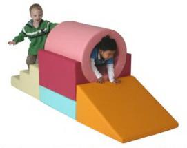 Sealplay ของเล่นเบาะนุ่ม ปีนคลาน อุโมงค์สีสวย (สีพาสเทล)