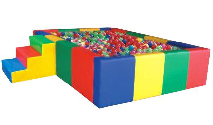บ่อบอลนุ่ม 4 เหลี่ยม+บันไดนุ่ม