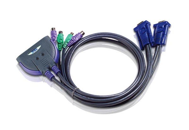 CS62S 2-Port PS/2 VGA Cable KVM Switch (0.9m)