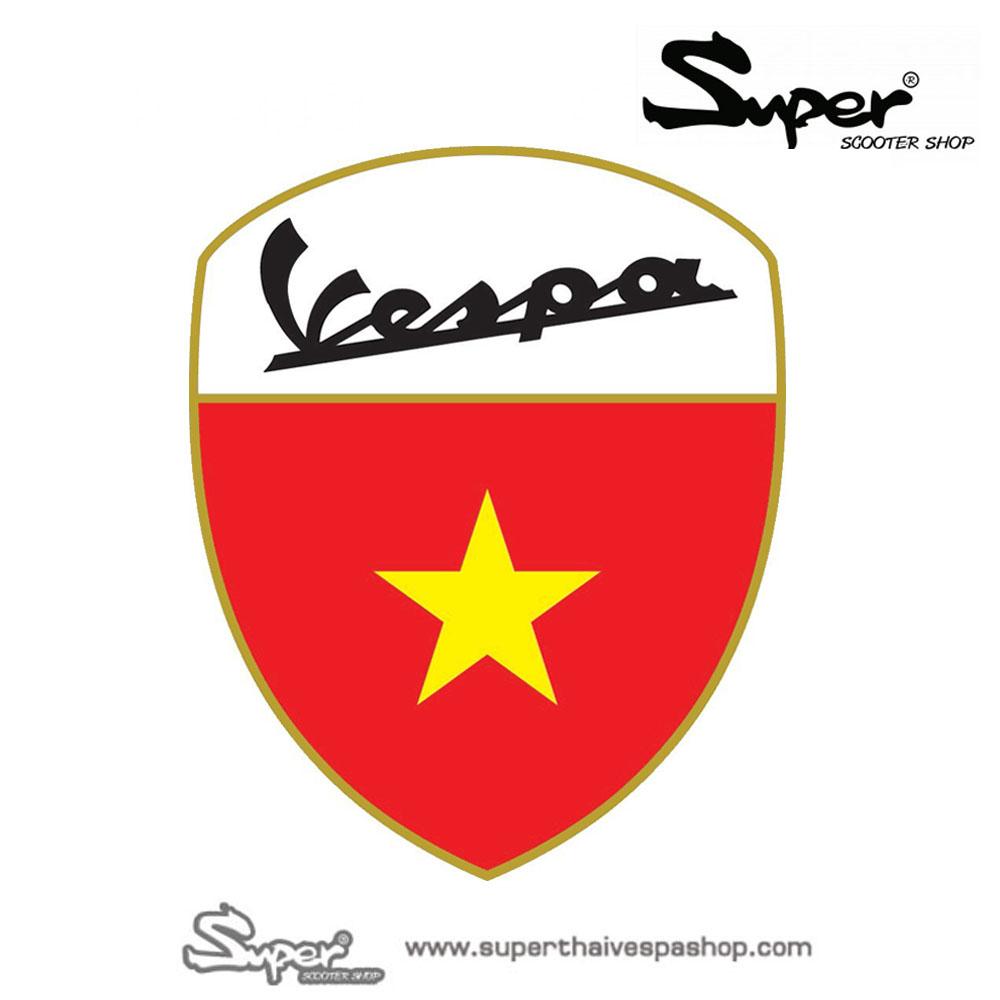 THE GOLD VESPA VIETNAM BADGE